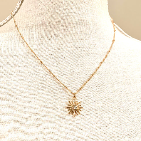 Starburst Necklace Gold