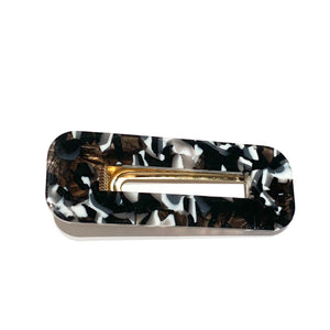 Rectangle Black and White Hair Clip