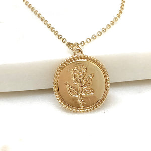 Rose Coin Necklace
