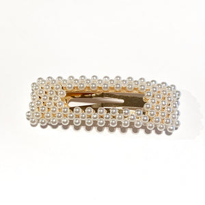 Pearl Hair Clip Rectangle