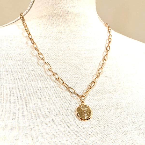 Medium Chain Coin Necklace Gold