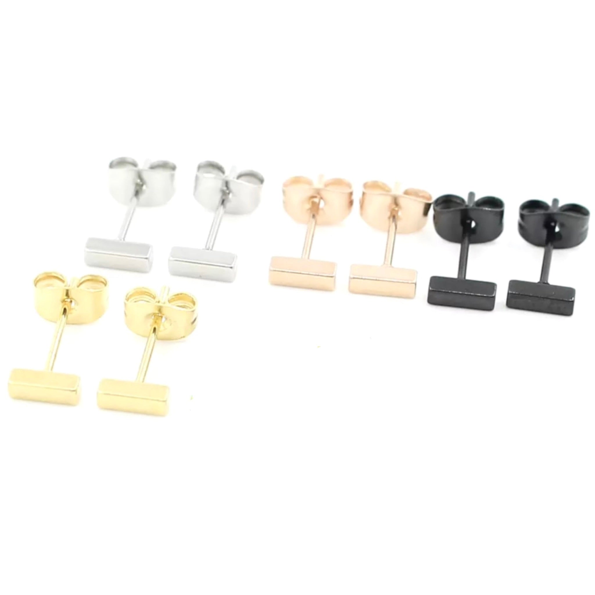 Smaller Thicker Bar Earrings