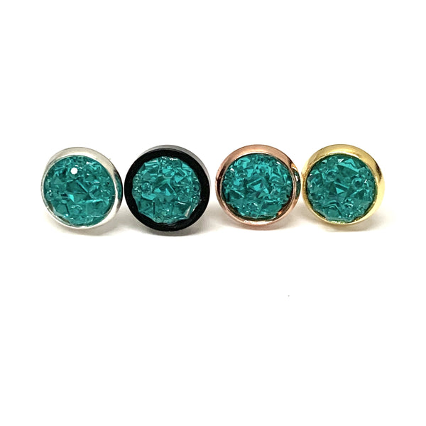 Resin Texture Earrings 8mm