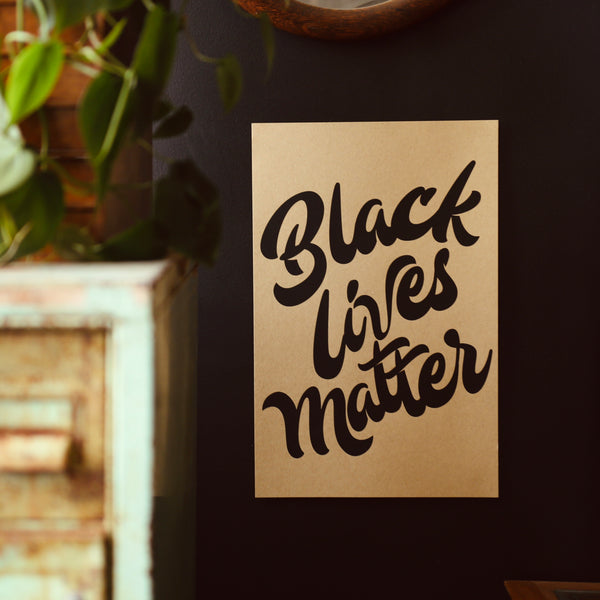 Black Lives Matter 100% Donation Screen Print