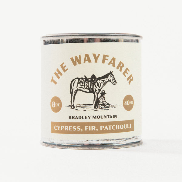 The Wayfarer Travel Candle from Bradley Mountain