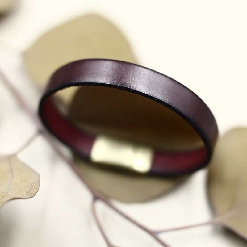 Cival Collective Italian leather bracelet in classic colors, clasp made in Spain and designed to last. Fair trade prodocts made in the midwest