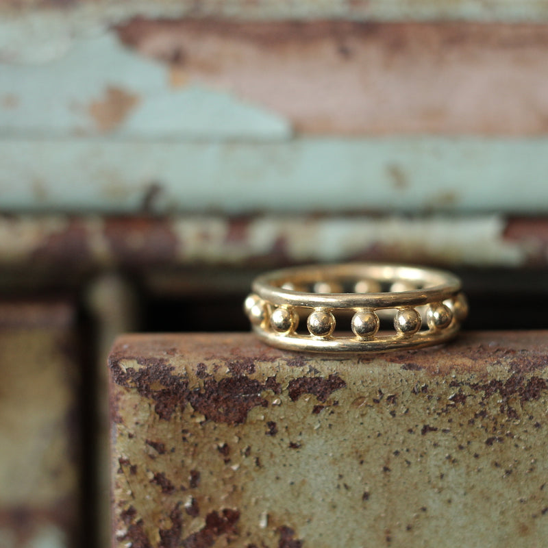 Cival Collective Modern cast brass ring. Classic design by Milwaukee, WI artists. Stacking rings are comfortable and easy to wear.