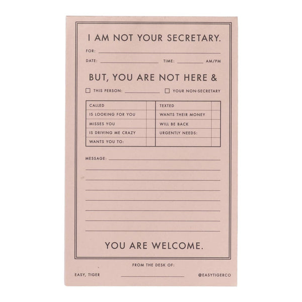 I'm Not Your Secretary Notepad from Made Market Co.