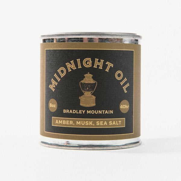Midnight Oil Travel Candle from Bradley Mountain