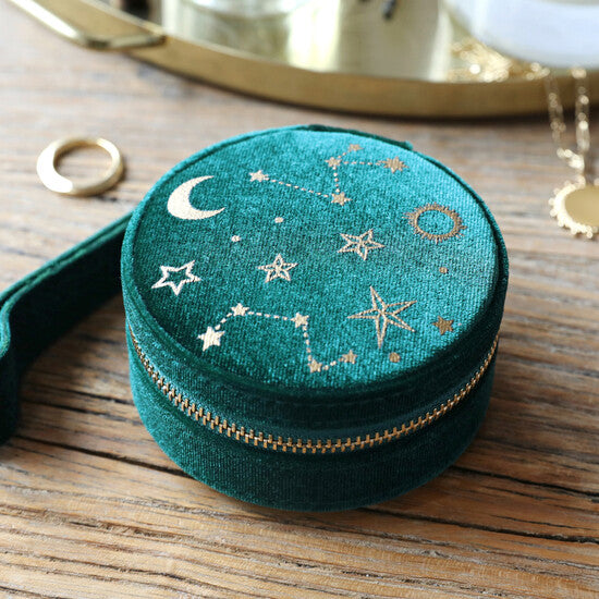 Round Velvet Jewelry Case from Lisa Angel