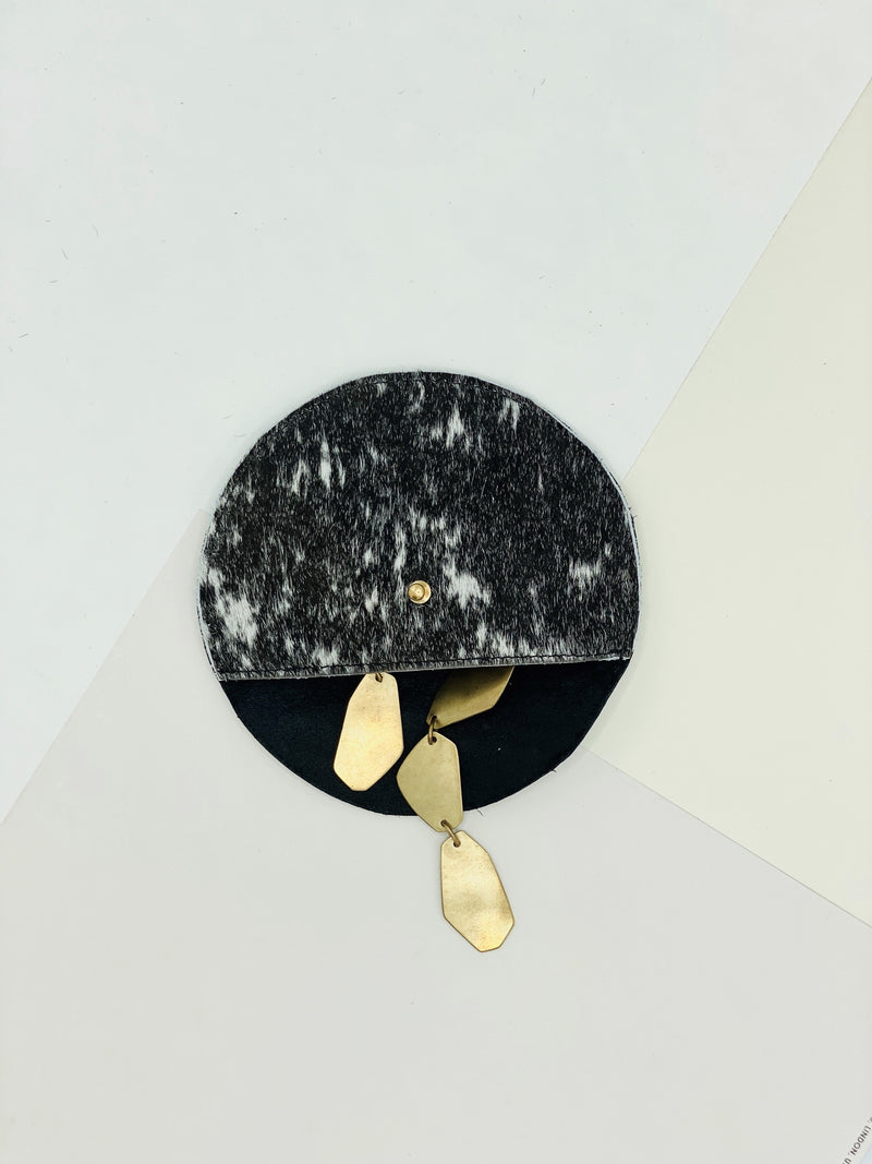 The Moon Cow Hide Coin Clutch from Jackalope Milk