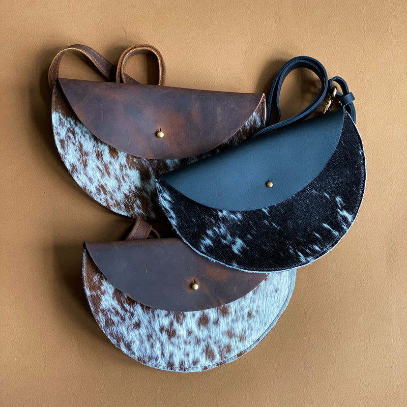 The Moon Cow Hide Hip Bag from Jackalope Milk