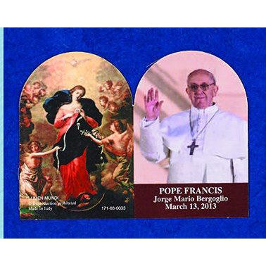 Pope Francis/Untier of Knots- Arched Folding PVC Prayer Card - Pack of 25