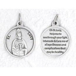 "3/4"" Medal- St Lucy- PACK OF 25"