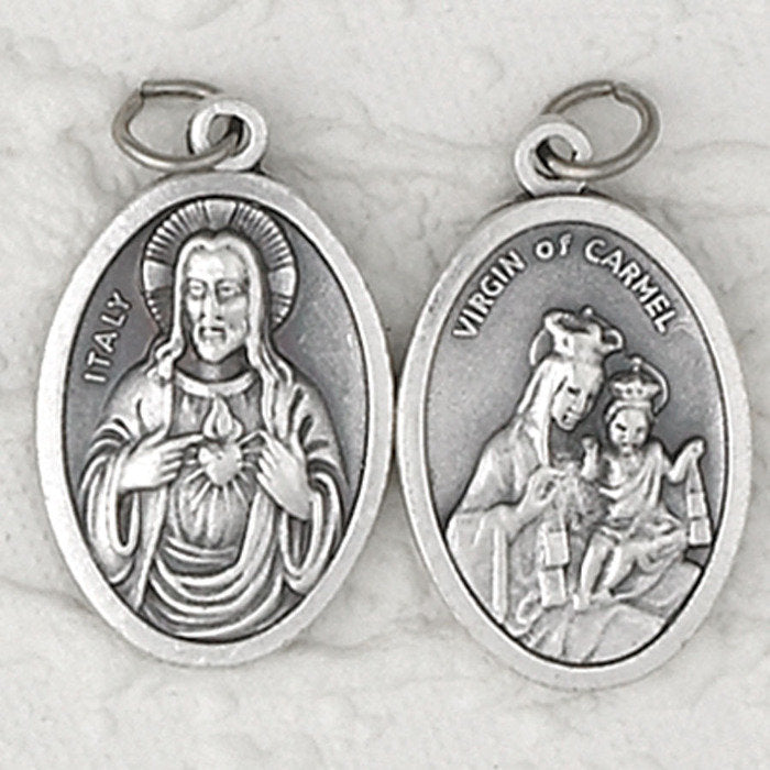 Sacred Heart / Mount Carmel Double Sided Medal - 4 Options