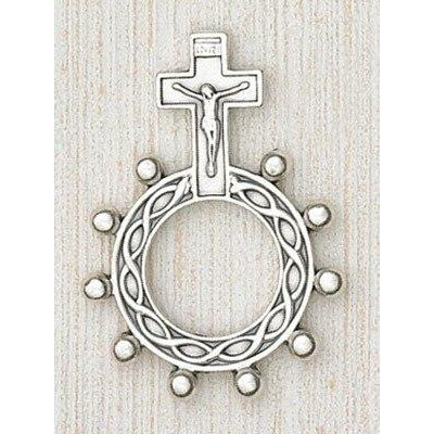 Crucifix - Finger Rosary - Silver Tone