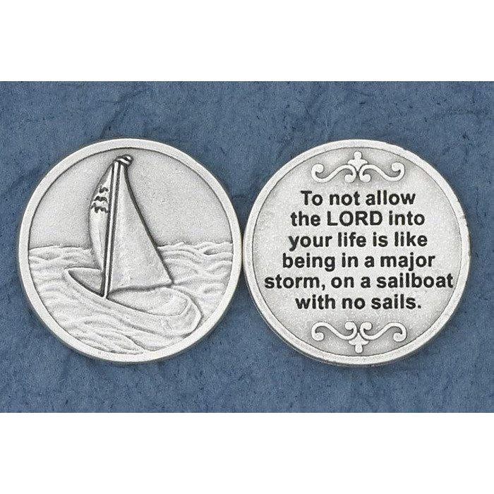 Christian Token - Sailboat
