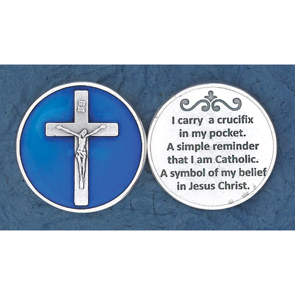 Enameled Token - I Carry a Crucifix - Pack of 25