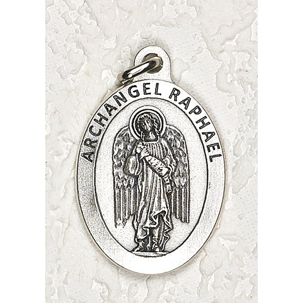 Archangel Raphael Double Sided Medal - 1-1/2 Inch - 4 Options