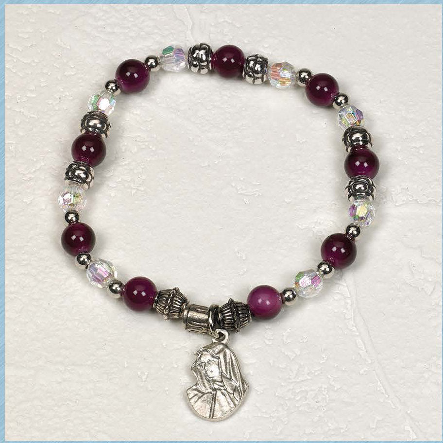 Sorrowful Mother - Italian Charm Bracelet - Pack of 4