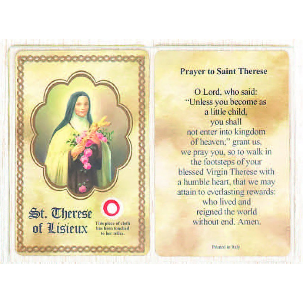Saint Therese Relic Card - Pack of 25