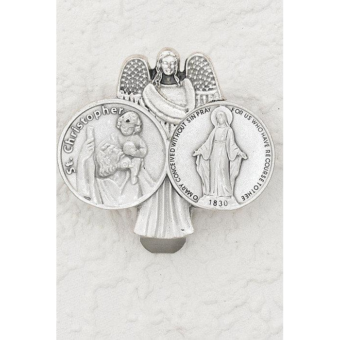 Saint Christopher/Miraculous Medal - Visor Clip - Pack of 3