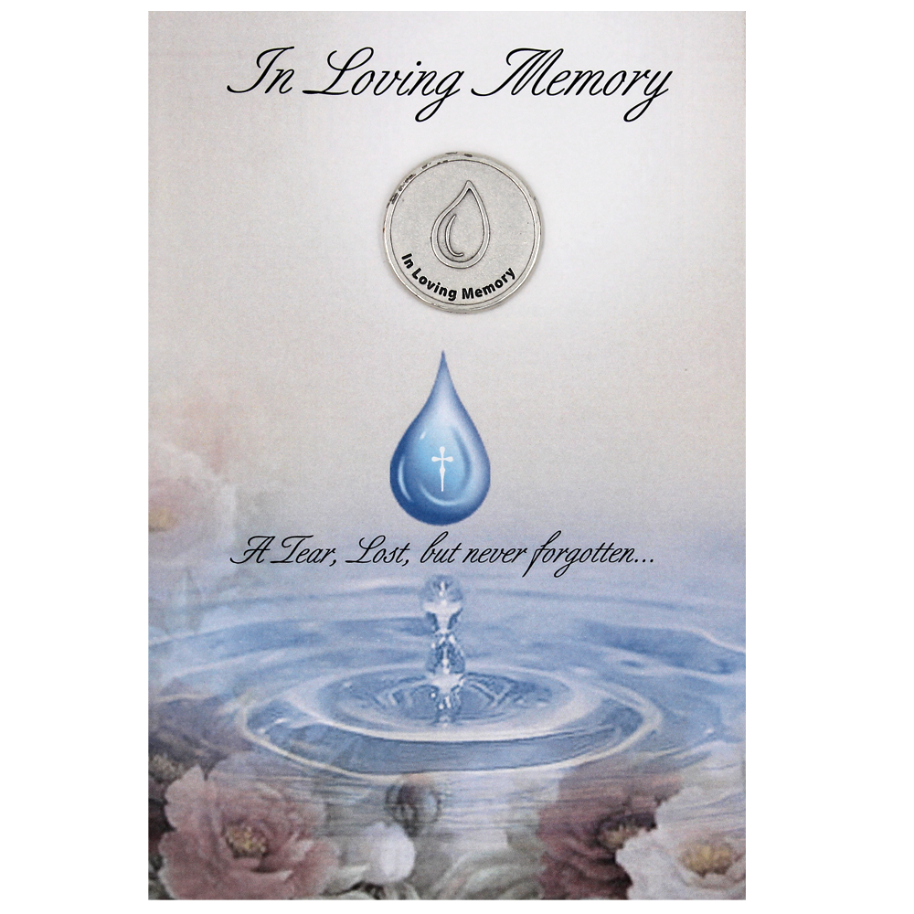 In Loving Memory Card with Removable Token - Pack of 6
