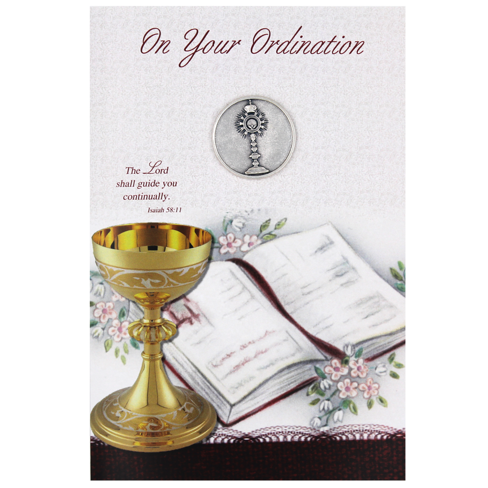 Ordination Card with Removable Token - Pack of 6