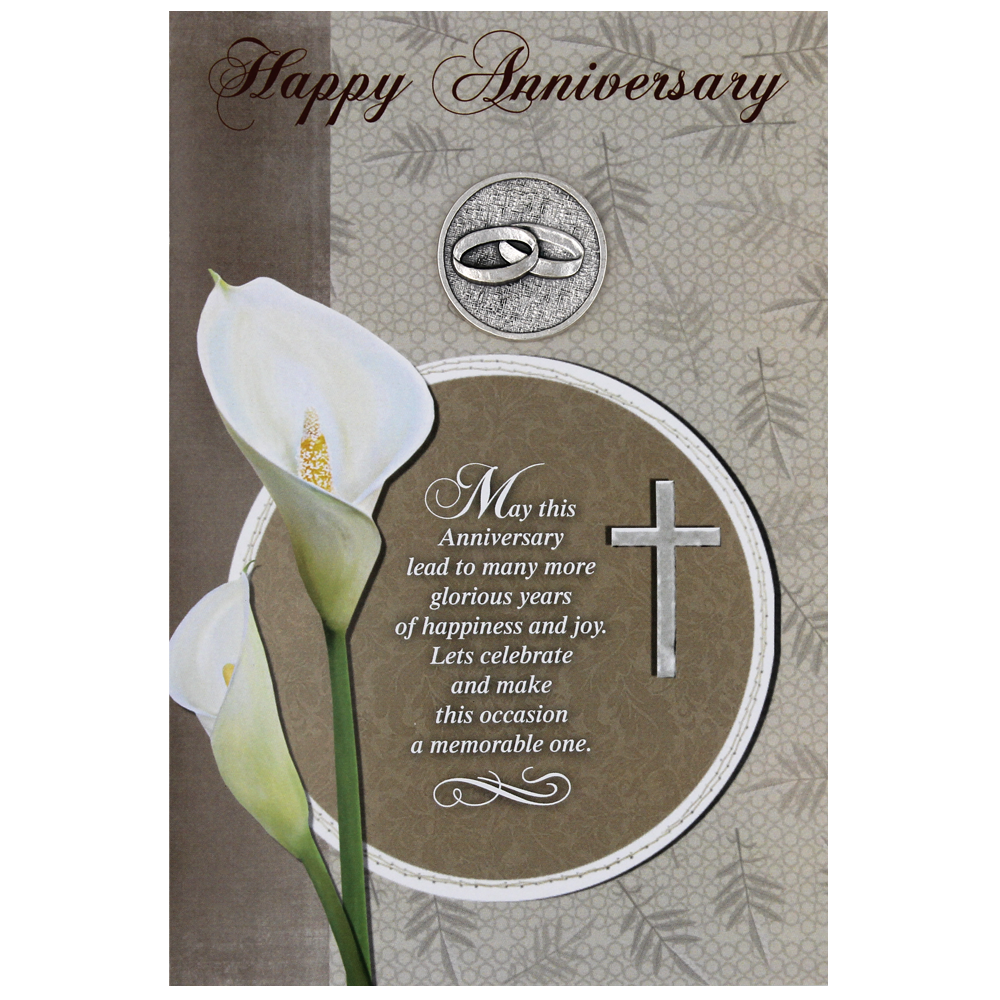 Happy Anniversary Card with Removable Token - Pack of 6
