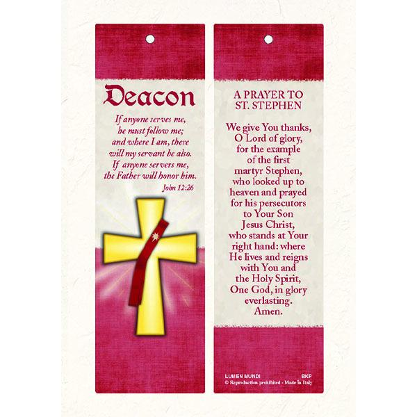 Deacon Laminated Bookmark