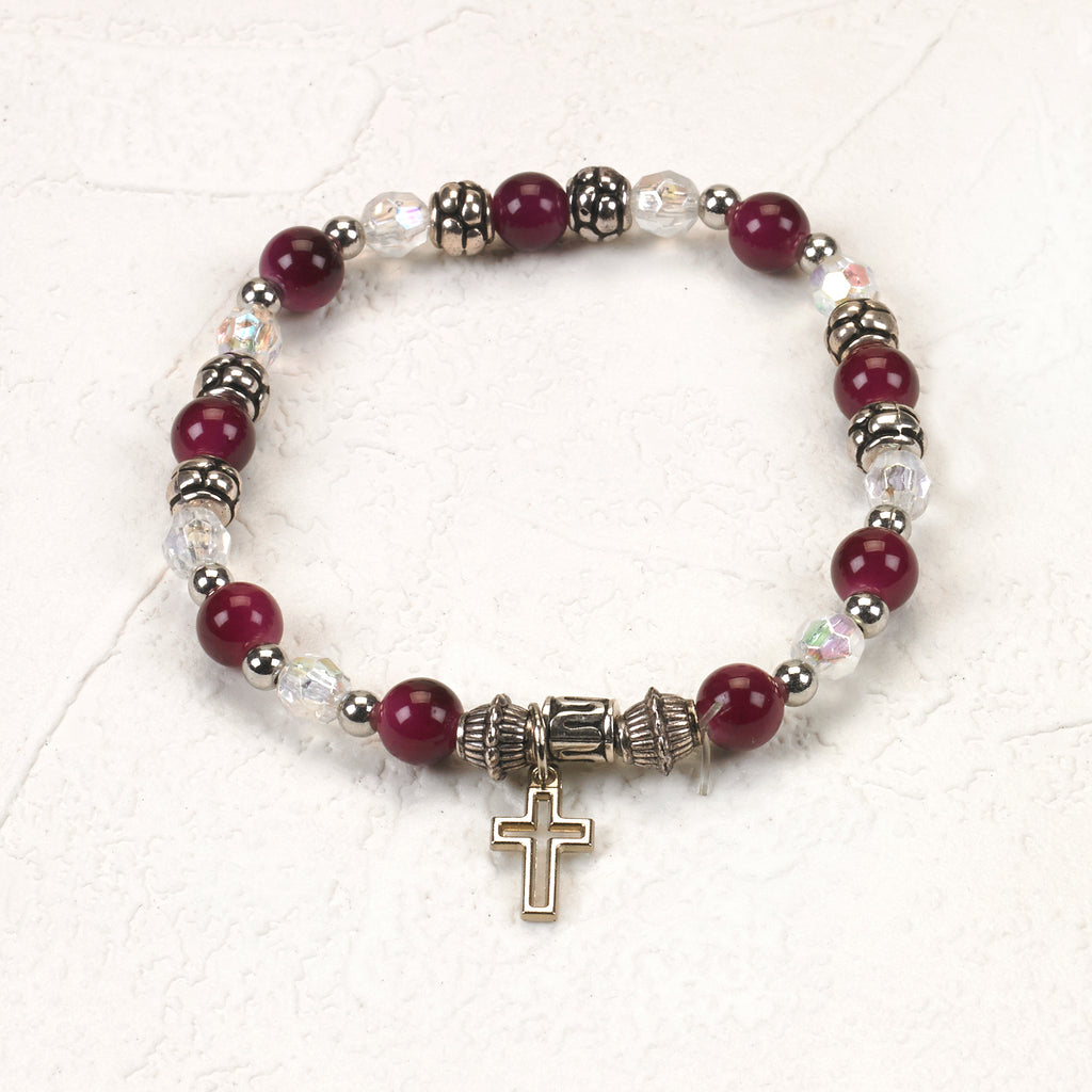 I am a Christian - Italian Stretch Bracelet with Prayer Card - Pack of 4