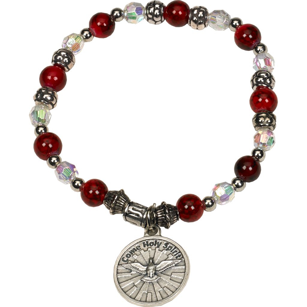 Red Holy Spirit Stretch Bracelet