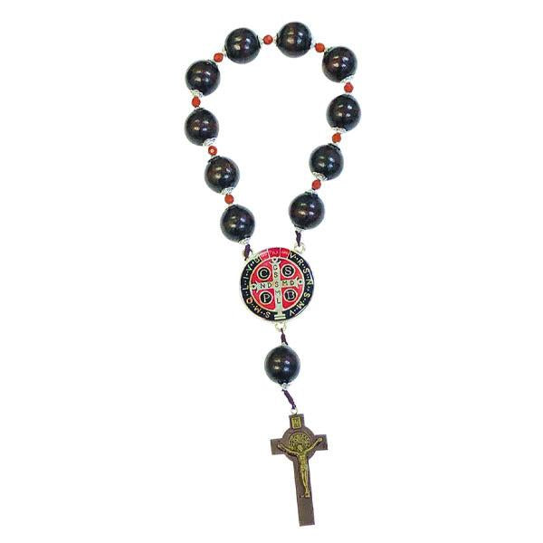Saint Benedict Door Rosary with Wood Beads