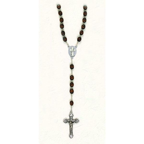 Deacon Brown Wood Rosary