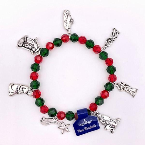 Red and Green Charm Bracelet - CHRISTMAS IN JULY