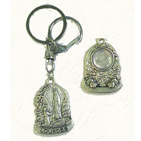 Double Key Ring with Genuine Lourdes Water