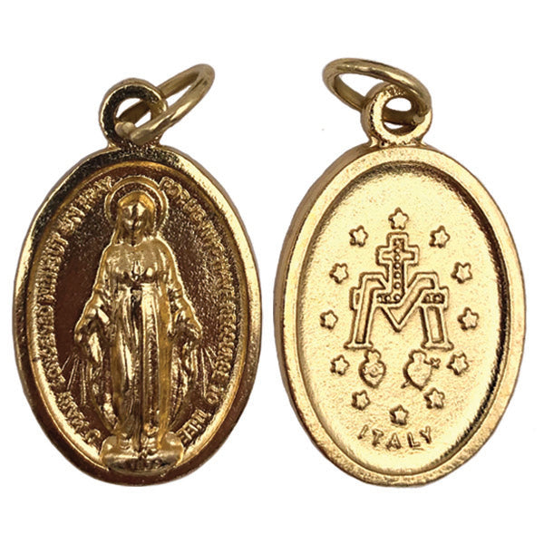 Gold Tone Double Sided Miraculous Medal - 3 Options