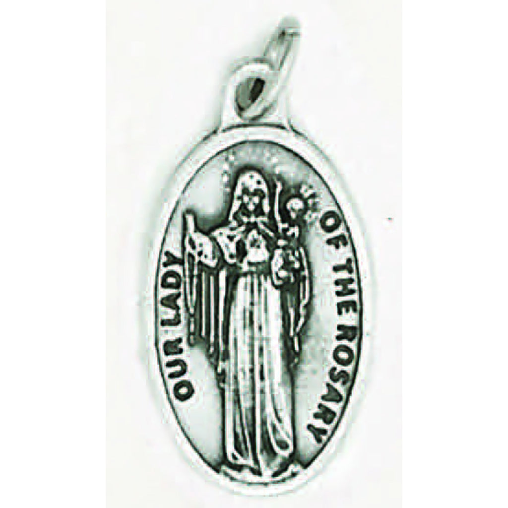 Our Lady Of The Rosary Pray for Us Medal