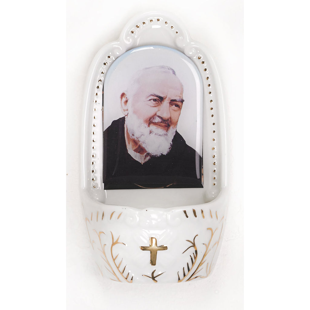 Saint/Padre Pio Holy Water Font