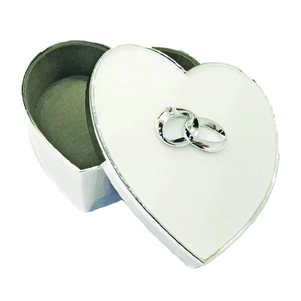 Silver-plated Heart Shaped Keepsake Box