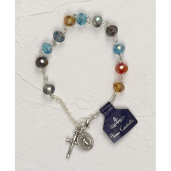 Multi color Crystal Rosary Bracelet - Pack of 4