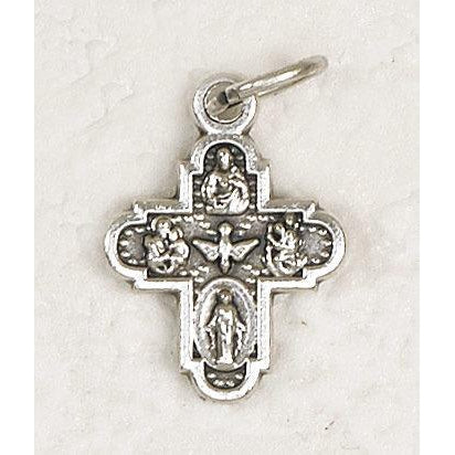 Four Way Silver Tone Bracelet Crucifix - Pack of 25