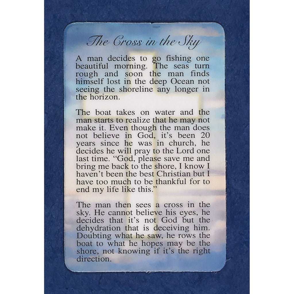 Cross in the Sky Prayer Cards