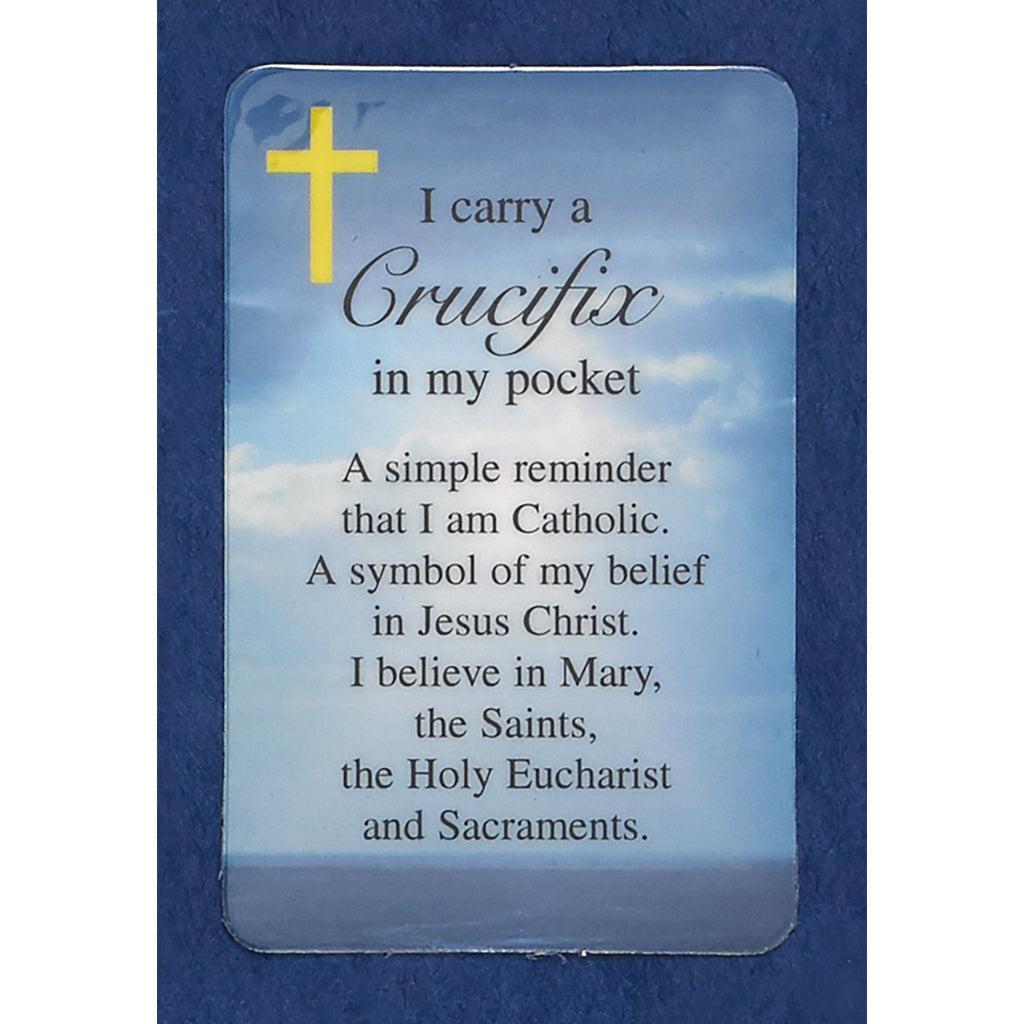 Crucifix in my Pocket Prayer Cards