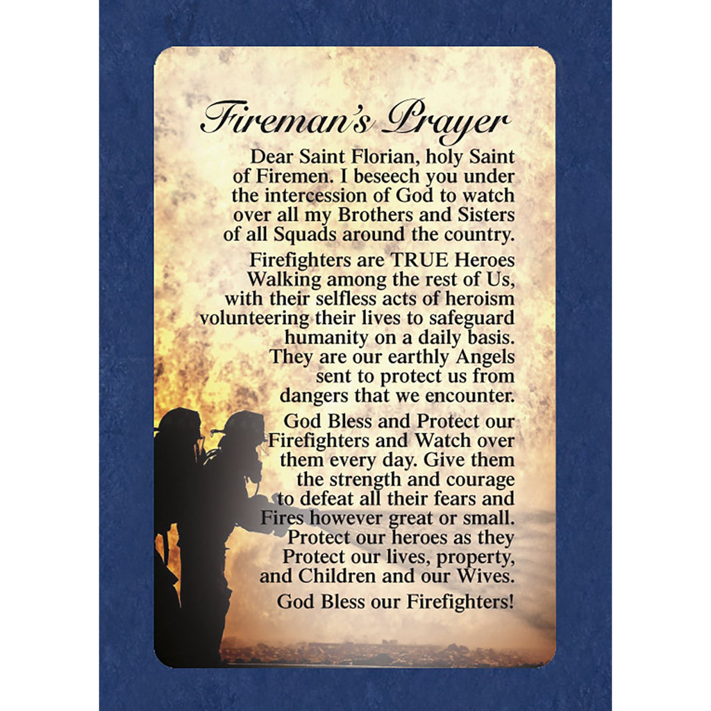 Fireman's Prayer Cards