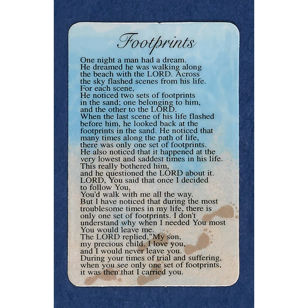 Footprints Prayer Cards