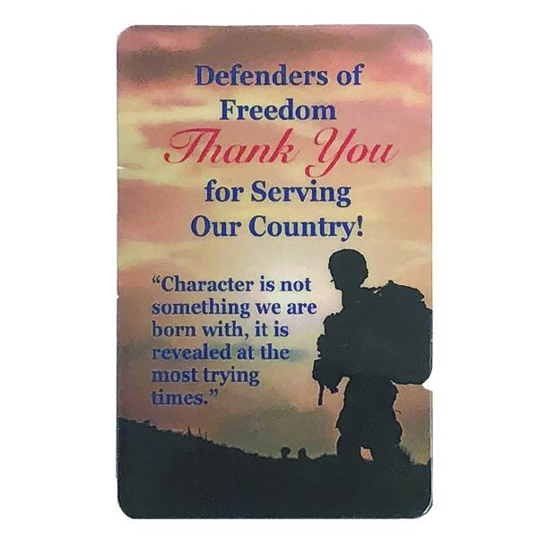 US Armed Forces Prayer Card