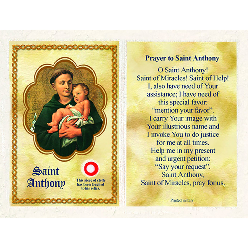 Saint Anthony Relic Card - Sold in Packs of 25