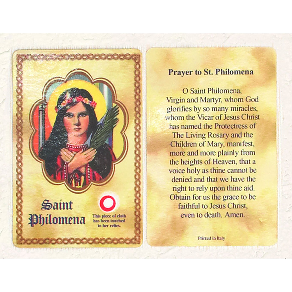 Saint Philomena Third Class Relic Card - Pack of 25