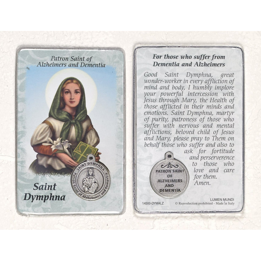 Healing Saint - St. Dymphna Card with Medal Saint Dymphna